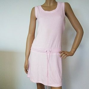 NEW Claiborne Pink French Terry Sleeveless Dress M